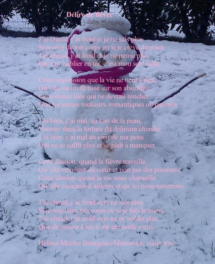 Bonhomme neige vieille fièvre